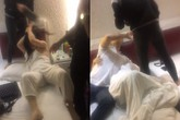 'Sôi máu' khi chồng che chắn cho 1 trong 2 cô gái trẻ ở khách sạn, vợ xách giày tung 'liên hoàn cước' dằn mặt