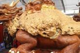 Tuyệt tác Long Quy từ gỗ nu đinh trăm năm tuổi dát vàng 9999 của đại gia Thái Bình