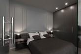 Phòng ngủ độc đáo nhờ sử dụng ánh sáng trong căn hộ 50m2