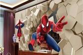 Phòng ngủ bé trai lấy cảm hứng từ Spiderman