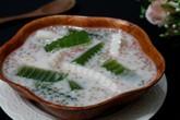 Món ăn chơi cuối tuần: Chè thạch lá dứa dừa non