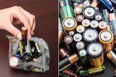 Bỏ ngay thói quen vứt pin đã hết vào thùng rác nếu không muốn hại cả gia đình