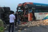 Va chạm với xe tải chở gạch, nhiều hành khách thoát chết