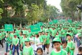 Sôi động hơn 20.000 học sinh và phụ huynh tham gia đi bộ tại Thành cổ Sơn Tây