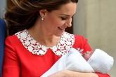 Chỉ sau 7 tiếng sinh nở, công nương Kate xuất hiện cực kỳ xinh đẹp và khỏe mạnh bên chồng cùng con trai