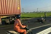 Hai vợ chồng tử vong thương tâm sau va chạm với xe container
