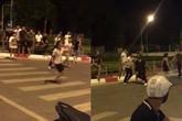 Hà Nội: Xác minh hai nhóm thanh niên đuổi chém nhau trên phố