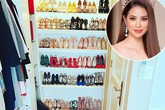 Choáng với tủ giày trị giá tiền tỷ của mỹ nhân Việt