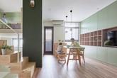 Ngôi nhà 40m² màu xanh matcha với thiết kế tầng lửng nhìn là yêu của gia đình trẻ