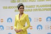 Hoa hậu H'hen Niê đẹp rạng rỡ tại Lễ mít tinh kỷ niệm Ngày Dân số Thế giới 11/7