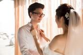 Chờ chú rể sáng đón dâu, Tú Anh xúc động 'biên tút': 'Có ai thương em như anh?'