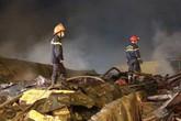 Hiện trường đổ nát kinh hoàng sau vụ cháy lớn ở chợ Gạo
