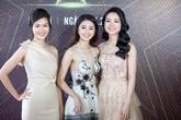 Hoa hậu Thu Ngân mặc váy xẻ ngực sâu đi sự kiện