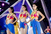Ứng viên Hoa hậu Việt Nam lộ eo kém thon, đùi to khi thi bikini