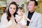Chồng đại gia của Vy Oanh hiếm hoi đi sự kiện cùng vợ con