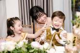 Elly Trần mặc gợi cảm trong tiệc sinh nhật con gái Cadie Mộc Trà
