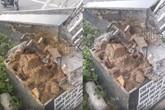 Bắc Ninh: Cổng chào KĐT Hòa Long - Kinh Bắc sụp đổ lộ ra toàn cát đá