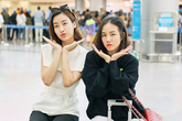 Hoa hậu Đỗ Mỹ Linh đọ mặt mộc với Phương Ly ở sân bay