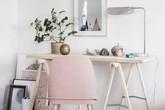 Phòng làm việc đầy cảm hứng với gam màu pastel