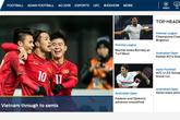 Dòng tin 'Việt Nam tiến thẳng bán kết' xuất hiện đầy tự hào trên trang chủ Fox Sports Asia