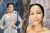H'hen Niê nói không dám để mặt mộc và đây là nhan sắc không son phấn của các hoa hậu Việt