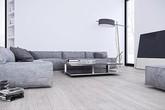 Thiết kế nội thất màu trắng và xám cho chủ nhà thích sự đơn giản