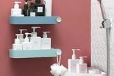 Làm kệ lưu trữ phòng tắm không cần phải khoan tường nhờ đồ vật này