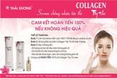 Nhãn hàng Collagen Tây Thi New của Sao Thái Dương cam kết hoàn tiền 100% nếu không hiệu quả