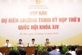 Kỳ họp thứ 8, Quốc hội khóa XIV khai mạc ngày 21/10, kéo dài 28 ngày