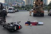 Hà Nội: Va chạm với xe bồn, 2 mẹ con tử vong tại chỗ