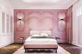 Mẫu phòng ngủ màu hồng được nhiều người ưa thích