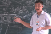 Những tác phẩm nghệ thuật từ phấn trắng của thầy giáo xứ Thanh gây sốt