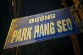 """Bảng tên đường """"Park Hang Seo"""" do người hâm mộ tự gắn đã được tháo dỡ"""