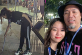 Vợ con Huy Tuấn hiếm hoi xuất hiện