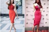 """Diện lại váy từ 4 năm trước của Phạm Hương, đáng nói là Khánh Vân khoe dáng nuột """"một chín một mười"""" với đàn chị"""