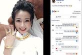 Vợ cầu thủ Phan Văn Đức khoe ảnh đeo kín vàng sau lễ ăn hỏi
