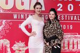 Hoa hậu trang sức Diễm Hương tập yoga cùng bậc thầy Asana thế giới