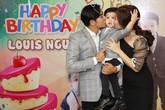 Ngọc Lan khóc trong tiệc sinh nhật con trai