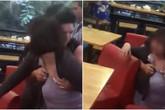 Bắt quả tang chồng ngoại tình, vợ bầu vượt mặt lao vào quán trà sữa đánh ghen: 'Tao suýt sảy thai vì mày đấy'