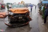 Hiện trường vụ tai nạn liên hoàn ở Thanh Hóa khiến 1 người chết