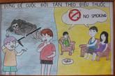 Cuộc sống không khói thuốc qua tranh vẽ