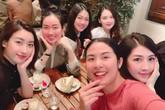 Ngọc Hân đón sinh nhật muộn với 'hội chị em' toàn các nàng hậu: Thanh Tú đang mang thai, Tú Anh hết kỳ ở cữ cùng lộ diện!