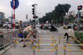Lập rào zíc zắc ngăn xe máy ở con đường đi bộ dài nhất thủ đô: Khổ người đi xe đạp