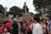 Chật cứng người đi xem Lễ hội hoa anh đào Nhật Bản - Hà Nội