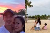Chồng Hà Tăng lần đầu tiên khoe ảnh gia đình nghỉ lễ hạnh phúc
