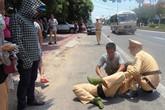 Bắt nam thanh niên đi xe máy tông thẳng vào tổ công tác CSGT khiến một chiến sĩ nhập viện