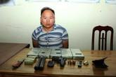 """Đối tượng mang súng K59 chở thuê 10 bánh heroin lấy 50 triệu đồng """"sa lưới"""""""