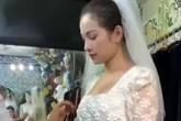 Hôn thê của Dương Khắc Linh đi thử áo dài cưới