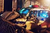 Bình Dương: Xe CSGT lao lên vỉa hè tông chết người
