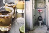 """Mang bia đổ vào nhà vệ sinh, tưởng phí của trời ai ngờ phát hiện """"tuyệt chiêu"""" bất ngờ"""